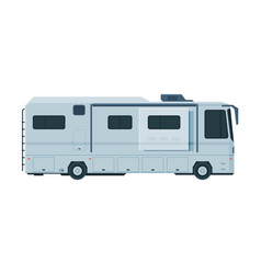 modern camping rv trailer mobile home for summer vector image