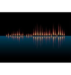 Music wave as coastal fires vector