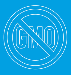 no gmo sign icon outline style vector image