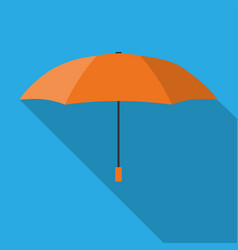 orange umbrella vector image
