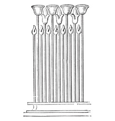 Ornament at foot wall great temple vector