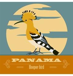 Panama landmarks Retro styled image vector image