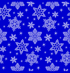 pattern with snowflake vector image