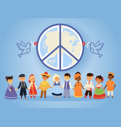 Peace united nations people vector
