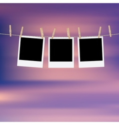 Photo Frames on Rope7 vector