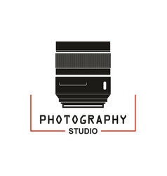 photo studio camera lens icon vector image