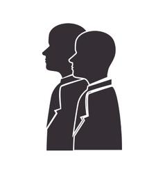 Profile person side vector