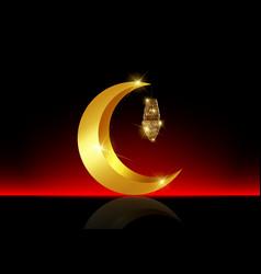 Ramadan mubarak background kareem gold vector