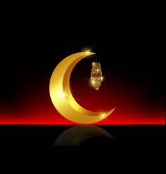 ramadan mubarak background ramadan kareem gold vector image