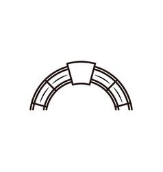Red brick furnace logo design inspiration vector