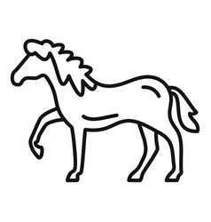 riding horse icon outline style vector image