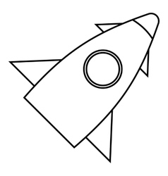 Rocket with one portholes icon outline style vector
