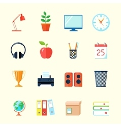 Room Interior Icons vector image