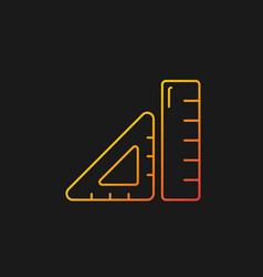 Ruler gradient icon for dark theme vector