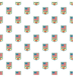 salute veterans day pattern seamless vector image