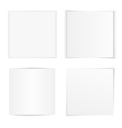 Set curved square photo frames vector