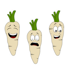 set of cartoon parsley character with different vector image