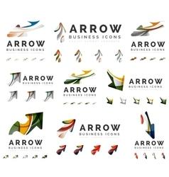 Set of company logotype branding designs arrow vector image
