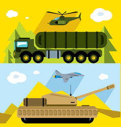 set russian military army flat style vector image