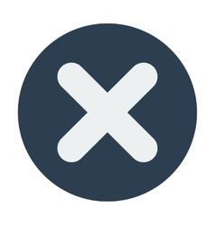 Single delete mark icon Flat design vector image