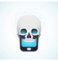 Skull mobile phone vector