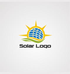solar alternative energy logo icon element and vector image