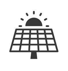 Solar cell panel and sun green energy icon vector