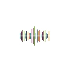 Sound wave icon - equalizer music element vector image