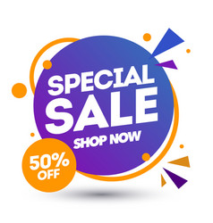 special sale banner design template discount app vector image