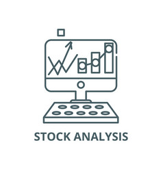 stock analysis line icon linear concept vector image