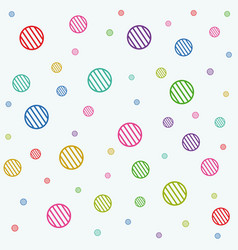 stripe circles texture vector image
