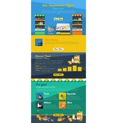 Supermarket Infographic Layout vector