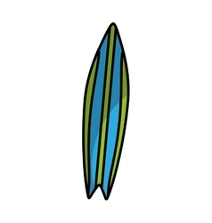 surf board isolated icon vector image
