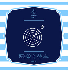 target goal line icon graphic elements for your vector image