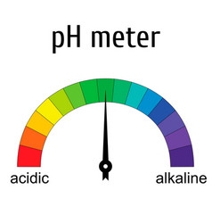 tester ph meter for measuring acid alkaline vector image