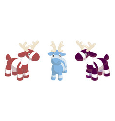 toy deers on white background vector image