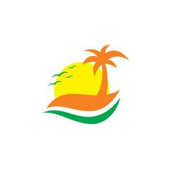travel summer holiday island vector image