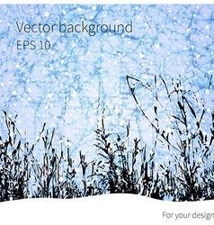 Winter grass background vector