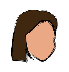 woman head avatar cartoon female icon vector image