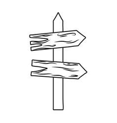 Wooden arrow guide label vector