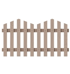 Wooden seamless fence triangular shape isolated vector