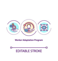 Worker adaptation program concept icon vector