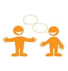 Conversation people vector