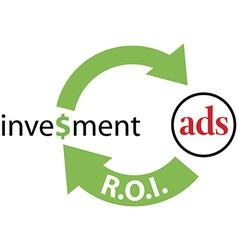ROI ads return on investment vector image
