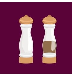 salt and pepper kitchenware icons set vector image