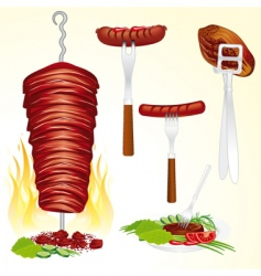 bbq meat vector image vector image