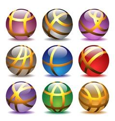 glass balls set vector image