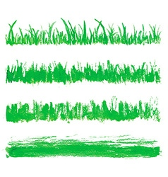 Hand drawn watercolor grass set vector image vector image