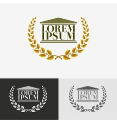 Lawyer logo design template vector image vector image