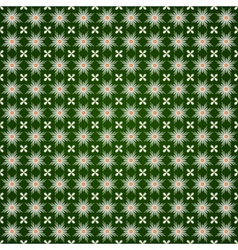 abstract flower seamless pattern with ethnic vector image vector image